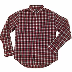 Theory men's red plaid button down shirt